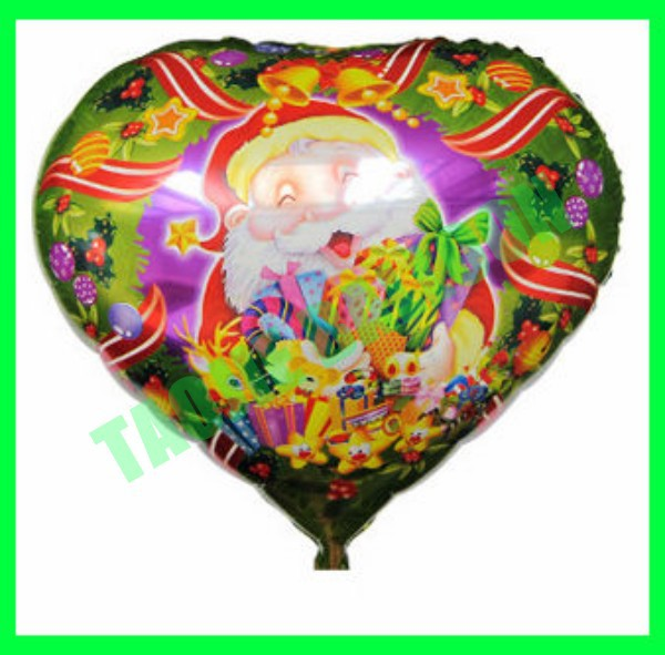 "Heart shape 18"" Christmas balloon,foil ballon"
