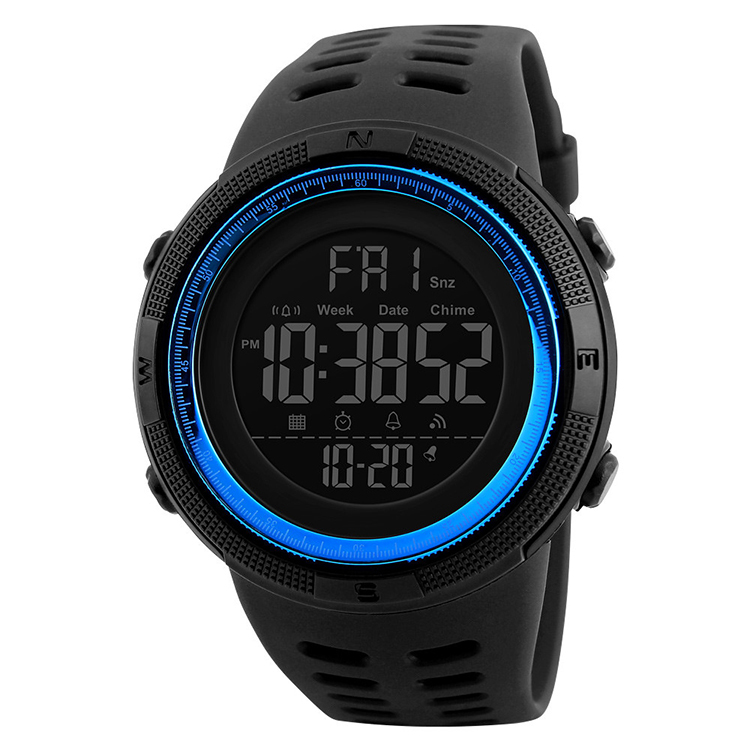 Hot selling Cheaper colorful customized 5 atm water waterproof sport wristwatch men plastic watches reloj 1251 skmei, 7 colors