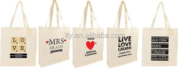 Wholesale organic cotton custom printed canvas tote bags