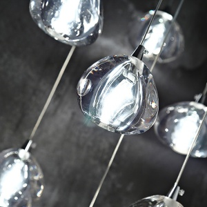 Crystal Ball Pendant Lighting Lamps Round LED Ceiling Lights Hotel Restaurant Large Modern Crystal Chandelier