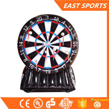 Wholesale inflatable foot darts game/inflatable soccer darts