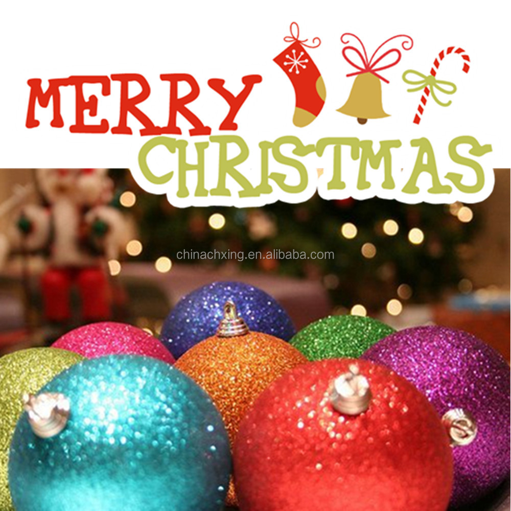 So beautiful colorful glitter christmas ornament balls
