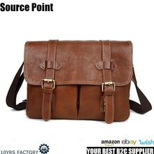 YD-8101 High quality vintage genuine leather unisex cross body messenger digit camera bag