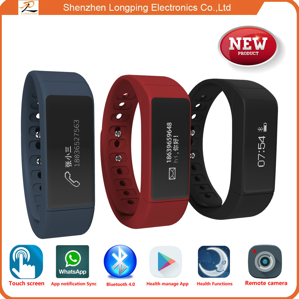 bigger touch screen Bluetooth smart cheap charity wristbands for iphone 6