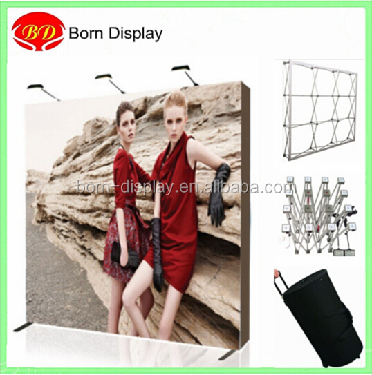 Aluminum magnetic pop up banner stand for backdrop wall system