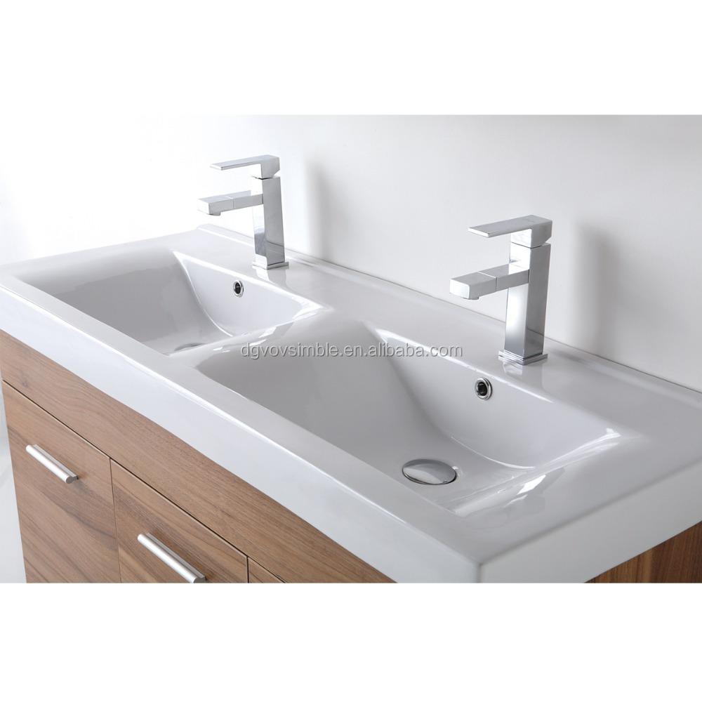 Modern Design Acrylic Molded Bathroom Sinks,Double Bowl Wash Basin ...