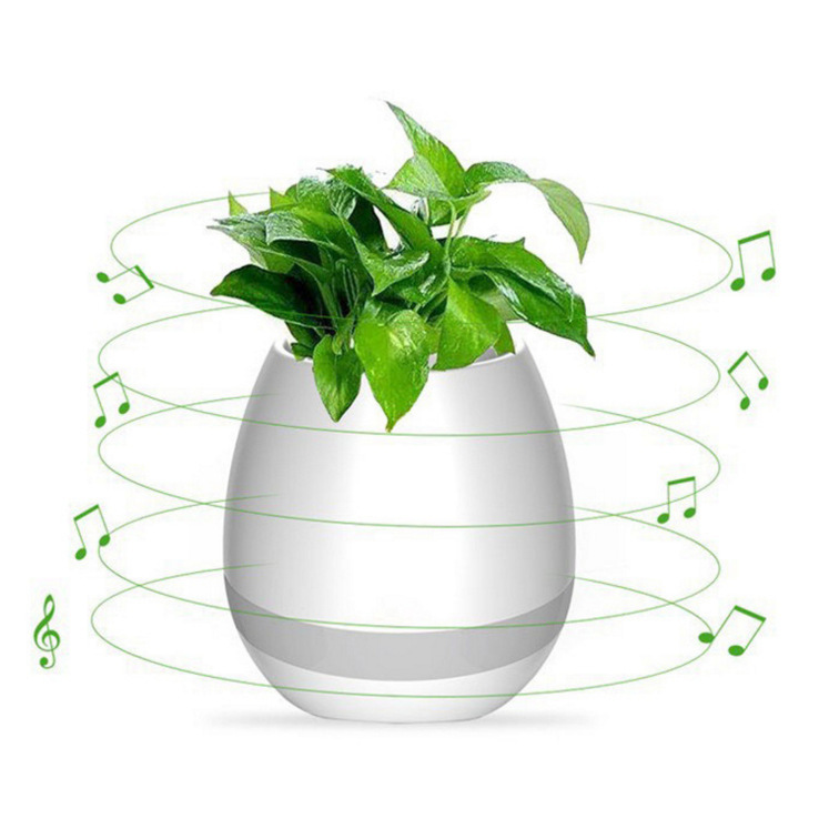 Special Music Faceplate Touch induction Bluetooth Flower pot colorful Led Light Flower pot Speaker Smart Music