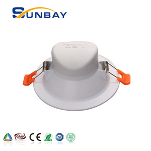 white frame 9w 4inch led downlight 12v 24v TUV certification