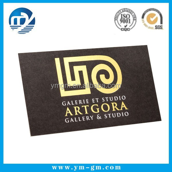 Custom printing luxury gold plated business cards in Xiamen