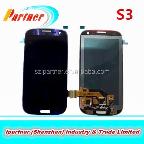 Original digitizer mobile phone spare parts for samsung galaxy s3 lcd,digitizer lcd for samsung s3 i9300 complete,i9300 lcd