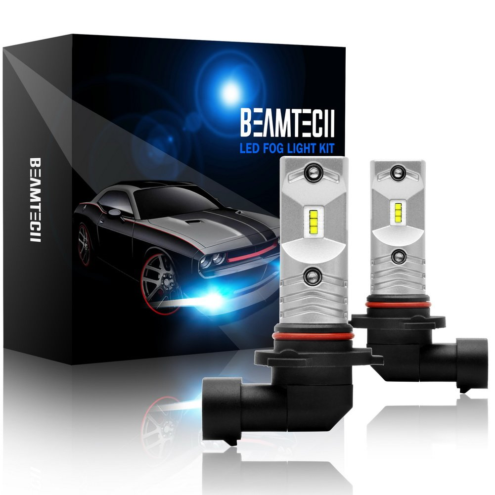 BEAMTECH H3 Led Fog Light Bulb,CSP Chips 800 Lumens 6500K Xenon White Extremely