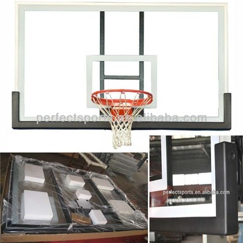 Fully-tempered Glass Basketball Backboard with Steel Frame