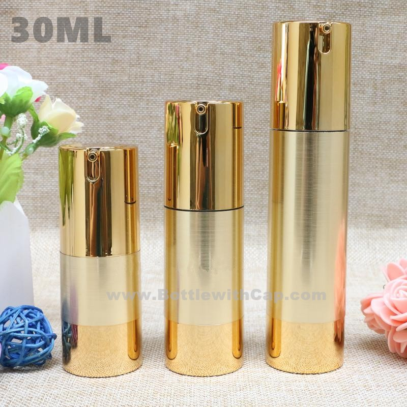 80*30ML High-grade gold drawing vacuum bottle lotion pump head bottle