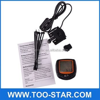 Waterproof Bicycle Speed Counter Wired Digital LCD Cycle Stopwatch Odometer