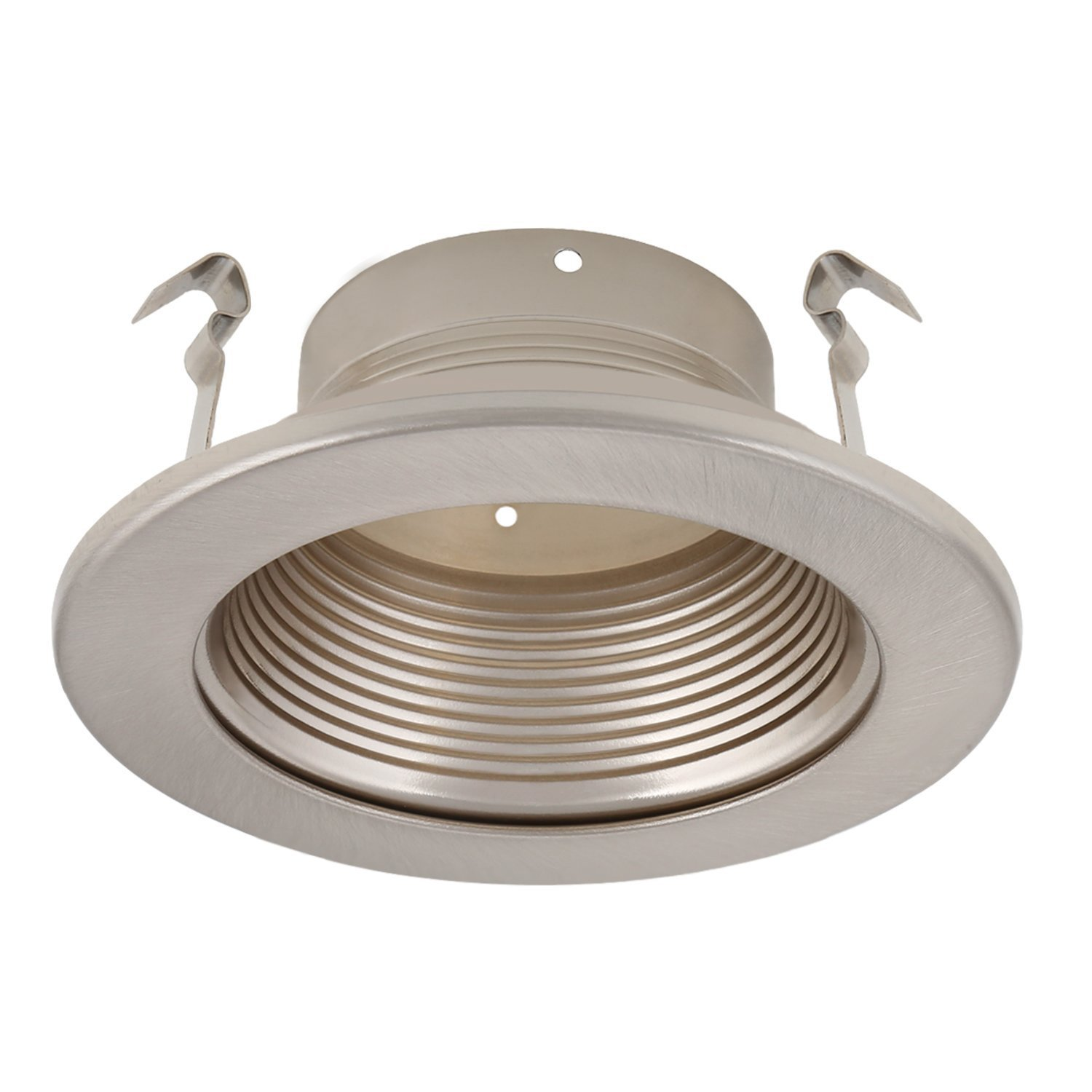 Get Quotations 4 Inch Recessed Can Light Trim With Satin Nickel Metal Step Baffle For