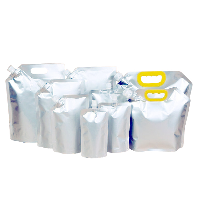 220ml~2.5L aluminum foil liquid stand up pouch with spout water bag