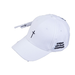 Mixed wholesale plain cross embroidery cotton baseball cap