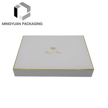 New Products Beautiful Custom LOGO Luxury Design Paper Packaging White Scarf Gift Box