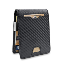 아마존 핫 잘 팔리는 망 Slim Purse 와 Coin Pocket 에 Carbon Look Euro PU Leather 돈 Clip <span class=keywords><strong>지갑</strong></span>