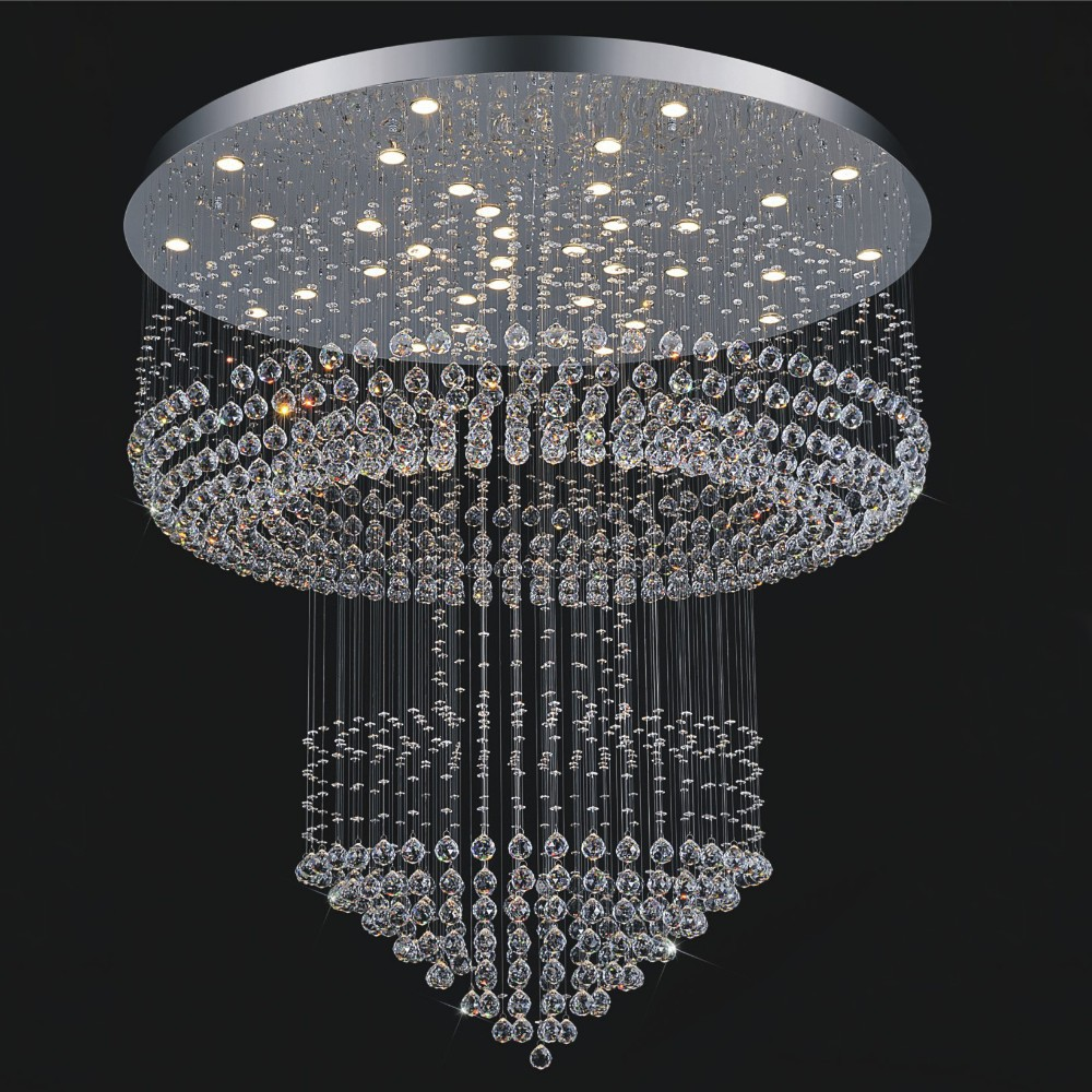 Free shipping luxury modern crystal chandelier lighting ...