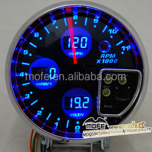 High performance auto oil pressure gauges turbo boost meter