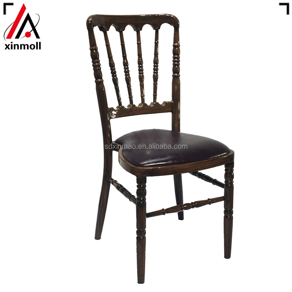 Chaise black napoleon chair aluminum for wedding chiavari chair