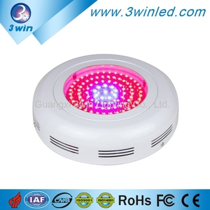 Full Spectrum 9 Bands Energy Saving and Cooling Fans Red/Blue/Orange Plant Lamp Growing Light UFO LED Grow Light