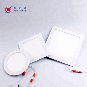 China led lighting ceiling slim recessed panel 6w 12w 15w 18w round indoor light