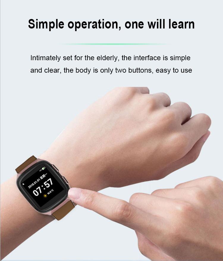2019 Mới Chăm Sóc Sức Khỏe 4G Xem Với GPS SOS Smartwatch Cho Người Cao Tuổi