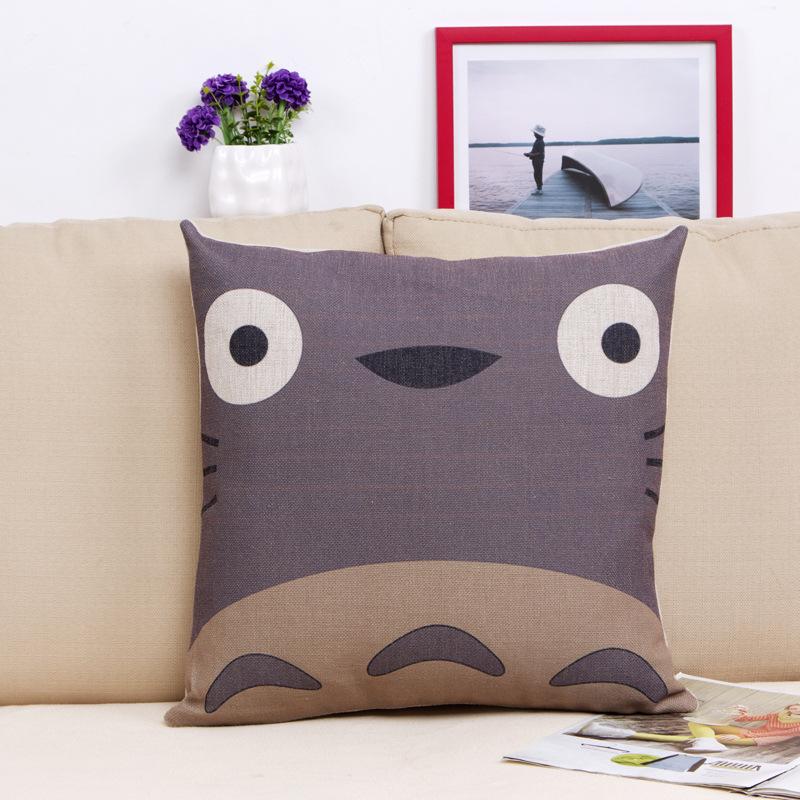 Scandinavian Coussin Cuscini Almofada 45 X 45cm Anime Totoro Decorative Pillow Home Decor Cushion Cojines Decorativos Pouf Futon