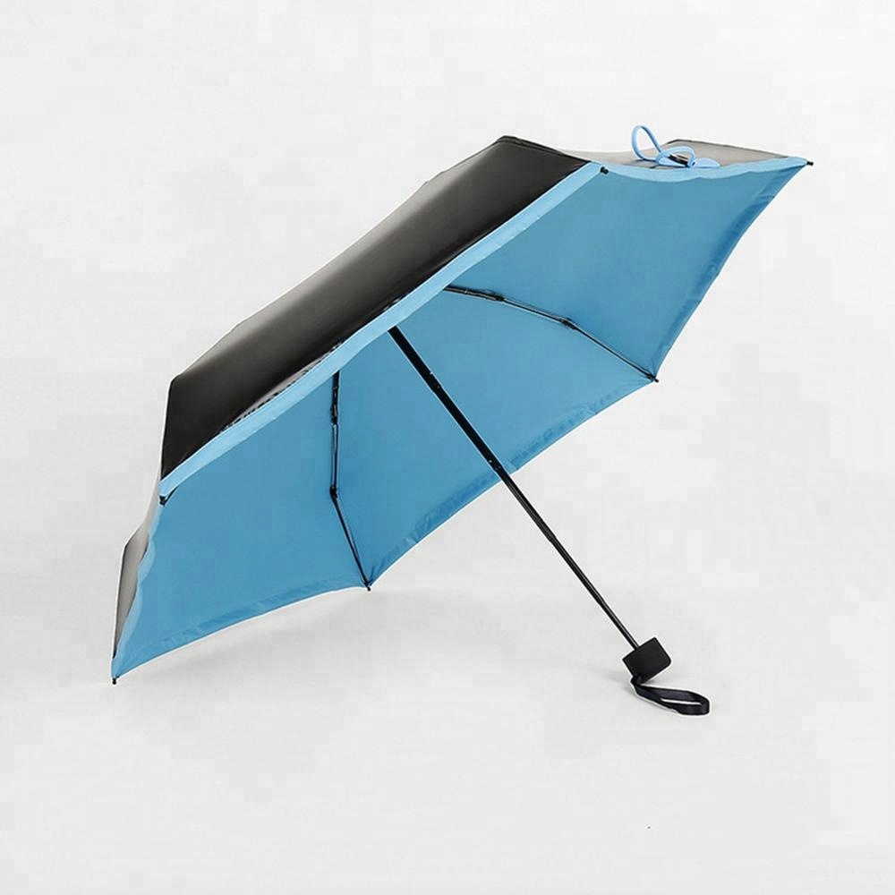 Portable Mini Folding Compact Super Windproof Anti-UV Rain Sun Umbrella Travel Promotional AD1227