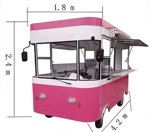 electric power hot dog carts food cart for sale/kiosk fast food vans/food trailer mobile with donut machine