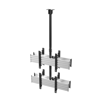 VCM-D2 Micro-Adjustable 2X1 TV Video Ceiling Mount For Double 55 Inch Screens