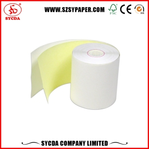 2-ply NCR receipt paper roll carbonless 2 ply paper for continuous printing form