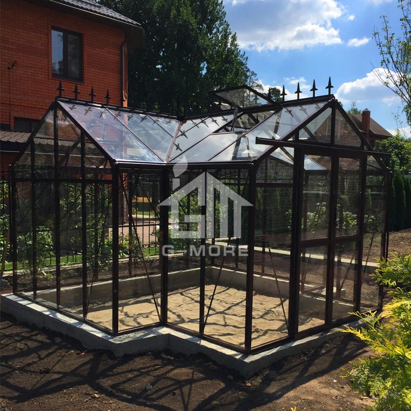 G-MORE Orangery Series, Aluminum Frame + PC + Glass, Unique Shape Hot Sale Orangery Sun Room (GM34606-B)