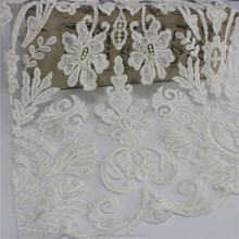 hand embroidery designs lace dress fabric with embroidered lace for bridal