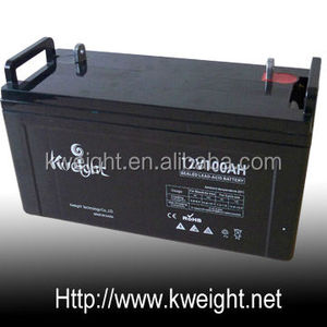 Long life lead acid battery 12V100AH solar Battery for Storage system,green energy! Kweight TECH! Excellent quality assurance!