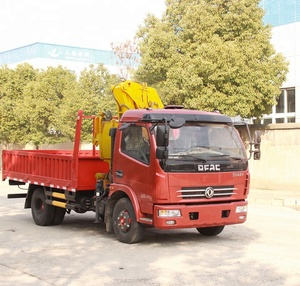 Dongfeng 4x2 2Ton 3Ton4 Ton Small Truck Crane /Tipper Trucks With Crane