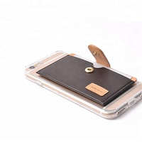 Hot selling factory directly magnetic mobile phone holder Ultra-slim Self Adhesive Credit Card Holder