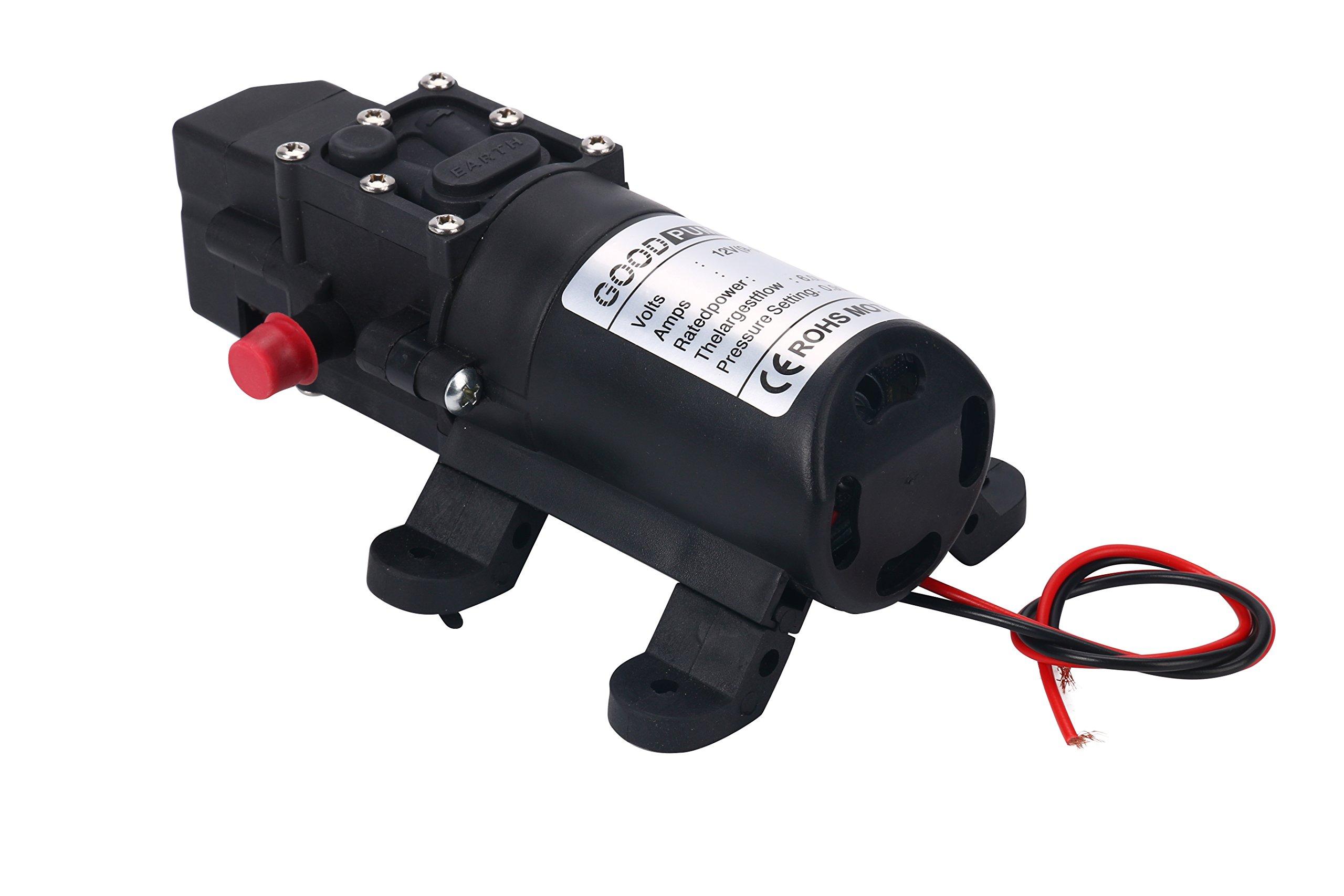 Amarine-made 12V Water Pressure Diaphragm Pump 5.0 L/min 1.3 GPM 60W Self Priming RV Booster Sprayer Pump Micropump For Home Garden Caravan/RV/Boat/Marine