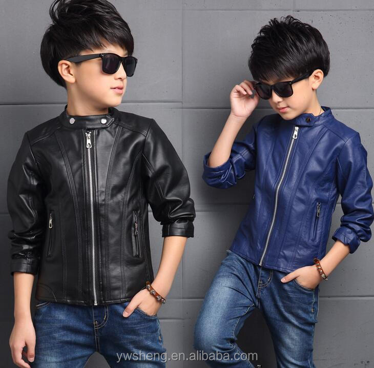 Trendy children clothes boys coats baby pu leather jacket solid toddler boy  jacket df10caf36
