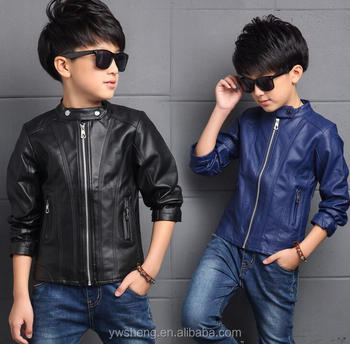Trendy children clothes boys coats baby pu leather jacket solid toddler boy Children Clothes Boys Coats Baby Pu Leather Jacket Solid