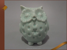 Ceramic crafts candle holder porcelain owl ornaments