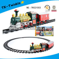 bo plastic toy train with music light electric train set