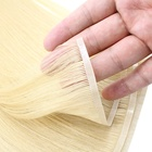 High Quality Popular Blonde Flat Weft Remy Hair Extensions Cuticle Aligned Hair Extensions