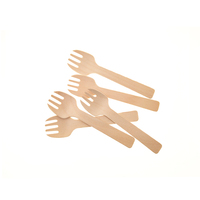 FSC Certified Disposable Biodegradable Compostbale Birch Wood Spork