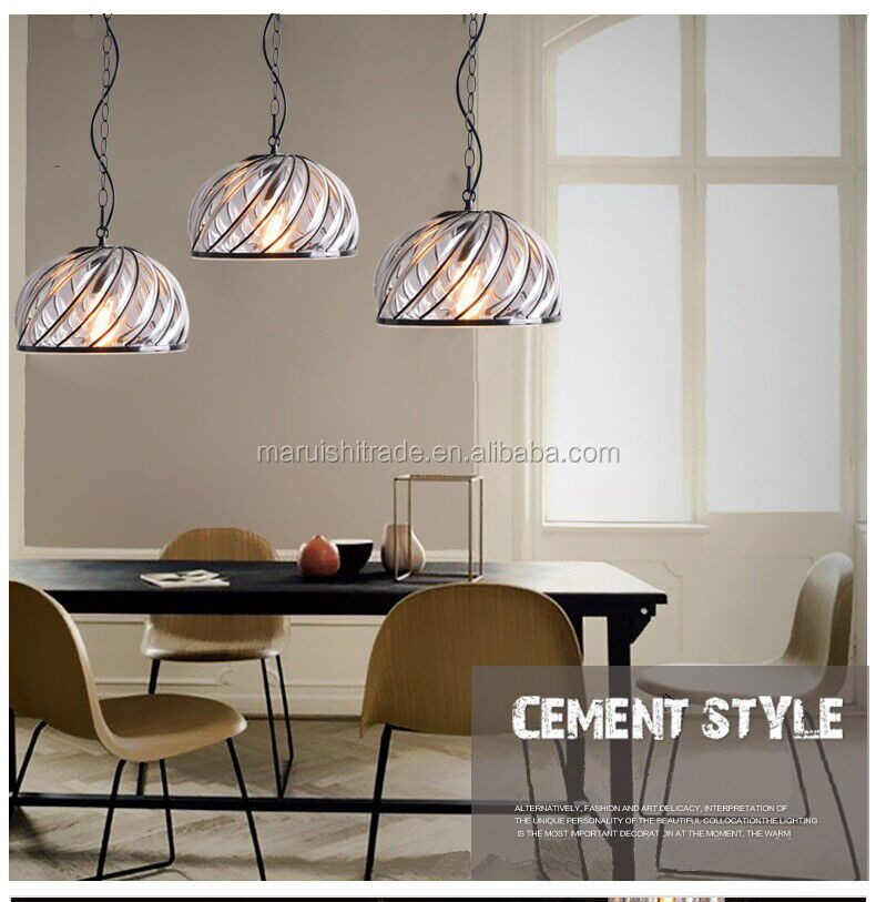 Modern industry contracted creative artistic personality glass chandelier restaurant cafe bar bar metal lamps and lanterns