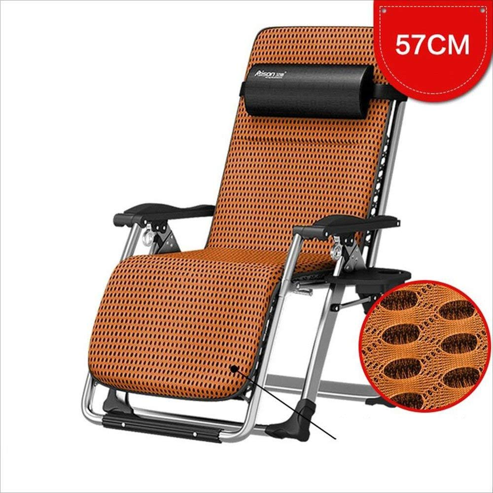 Xiaolin Folding Bed Lunch Break Recliner Couch Office Camping Bed Lazy Home Pregnant Woman Chair (Color : Brown)