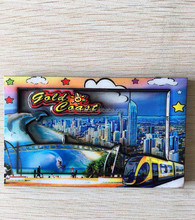 The well-made custom souvenir 3D wood resin fridge magnet of Gold Coast of Australia can be return gifts or home decoration