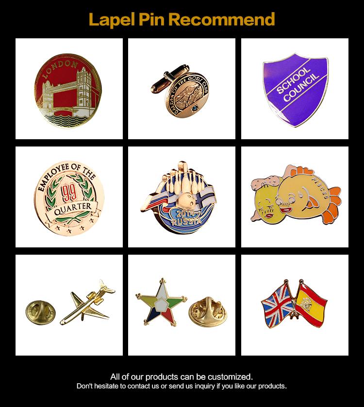 2020 Новый Дизайн Пользовательский логотип пластины Швейцарский булавки сумочка кошелек металлический знак